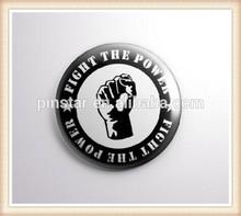 2014 New Custom Metal Hotsale Fist Design Fight The Power - Pinbacks Badge Button 25mm 1'' Button Badge