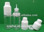 ISO8317 transparent plastic tubes for e liquid/juice/ cigarette liquid bottle with long narrow skinny tip