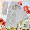 di nuova concezione da giardino popolari a tema in rilievo carta di invito a nozze