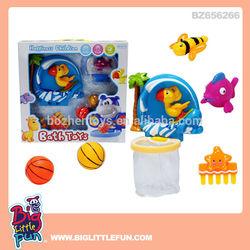 Bath toy mini basketball toy and mini basketball hoop