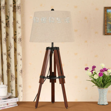 SAA Tripod table lamp with fabric or linen shade for Australia in stock made in china