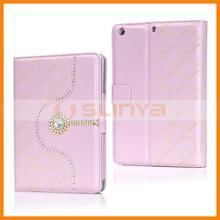 Flexible Holder Diamond Flip Leather Case For iPad Mini 2 Diamond Case