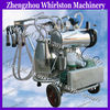 hand operated mobile cow milking machine/industrial cow milk extruding machine