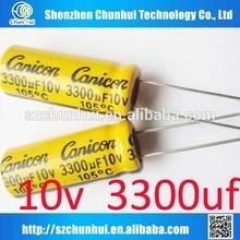 10v x 3300uf electrolytic capacitors 10X24mm