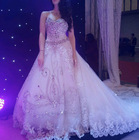 Real sample Middle east most popular crystal luxury wedding dress OW21