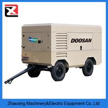 Ingersoll Rand diesel rotary screw portable volvo truck air compressor
