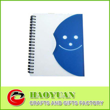 Cheap spiral journal notebook with diecut face-HYXQ007-OR