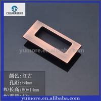 aluminum alloy furniture door handles flat drawer handle knobs