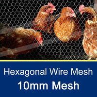 10mm Galvanized Hexagonal Wire Mesh 2'-1M