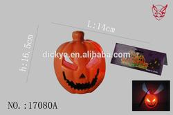 Colorful Plastic voice control pumpkin /double sides CrossBones