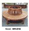 Popular round garden wood bench in playground outdoor bench