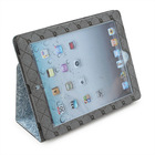 Cartoon case for tablet PU leather kickstand case for ipad 2