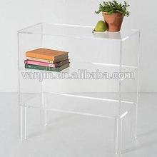 Free Standing Stylish Clear Acrylic Bookshelves 7131407204