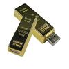 Gold bar usb flash drive Thumb bank gift metal USB wholesale 2G 4G 8G 16G 32G
