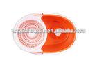 stainless steel basket microfiber spin mop
