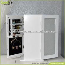 360 degree white wood desk top elegant jewelry cabinet