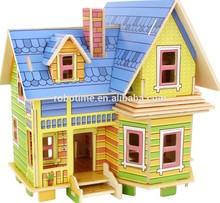 Robotime promotional wood child puzzle house games