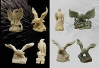 abstract handcarving stone eagle garden sculptures