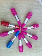 Fashion Stationery Colorful Plastic Lipstick Ball Pen
