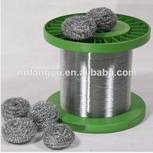 Factory Supply 0.22mm Galvanized round wire /metal scourer wire/ cleaning ball