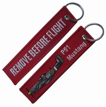 P-51 P51 Mustang Remove Before Flight Keychain Key chain Key ring Keyring Key tag