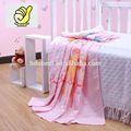 Nuevo 2014 products100% para bebés de algodón para bebés niños swaddle manta toalla de baño con el oso adorable, una toalla de impresión-- de color rosa de color