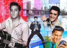Handsome Elvis Presley canvas oil painting