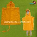 Custom animais 100% microfibra de poliéster crianças poncho toalha de praia