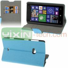 For Nokia Lumia 625 leather case, lumia wooden case, flip case for nokia 625