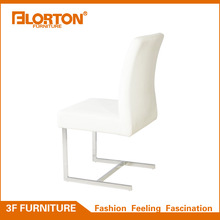 Modern white PU leather dining room chair hotel luxury dining chair