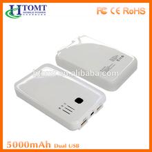 High capacity 5000mah universal mobile phone power banks iphone/ipad/samsung and camera