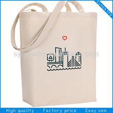 reusable recycled plain cotton shopping bag