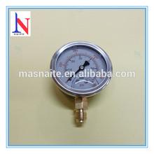 "2.5"" glycerine filled manometer fluid pressure measure 0-900 psi"