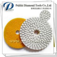 4 Inch Diamond Resin 3 Step Polishing Pad For Granite Marble Stone Polishing