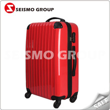 abs luggage stock lightweight hard shell suitcase