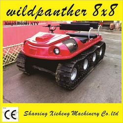 Wild Panther 8x8 amphibious atv with rubber tracks