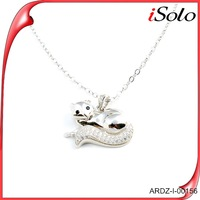 Latest products in market fox pendant for best friend 925 silver jewelry