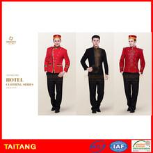 Stylish High Quality Custom Size Fashion Staff Bellboy Uniform For Hotel