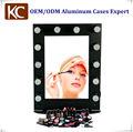 heißer verkauf mode salon spiegel mit leichtem aluminium beleuchteten schminkspiegel schönheitssalon spiegel zum verkauf