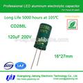 120 uf 200 v capacitor eletrolítico de alumínio para LED de alimentação da unidade