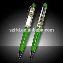 promotional gift liquid ballpen , promote functions cool liquid pen ,pen that light up