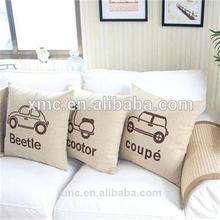ployester fancy car pillow case& car pillow