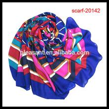 Real silk twill flower square fashion scarf 2014