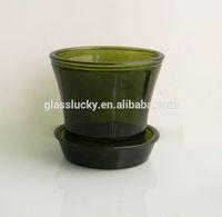 Glass flowers bases wholesale and light base under vase