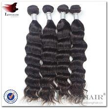 Famous Person Hair Style #1B Color 95-105g virgin brazilian loose wave 4pcs lot