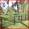Anping Wrought iron railling prices/Spear top wrought iron picket fence/3 rail steel fence