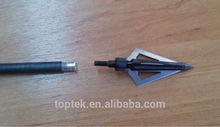 black three blades tips, hunting carbon arrow shaft, arrow tips, arrow feather