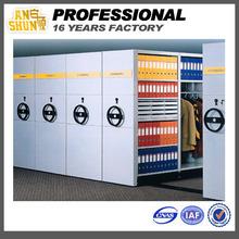 High destnity steel mobile filing cabinet /mechanical mobile shelving/office storage for office,library.