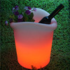 white PE plastic glowing ice bucket wine holders for UK French bars clubs