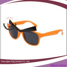 rough eyebrow orange fancy party glasses